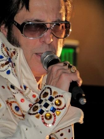 Close-up Elvis Impersonator