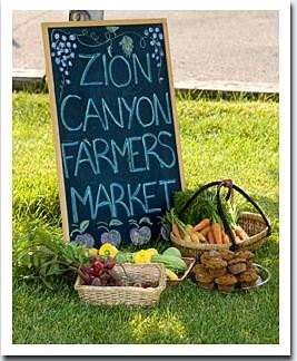 Zion Canyon Farmers Market Sign