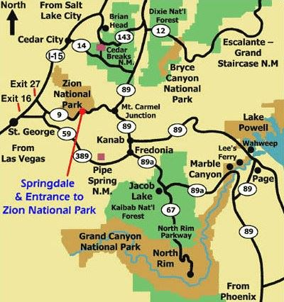 Springdale Town Map