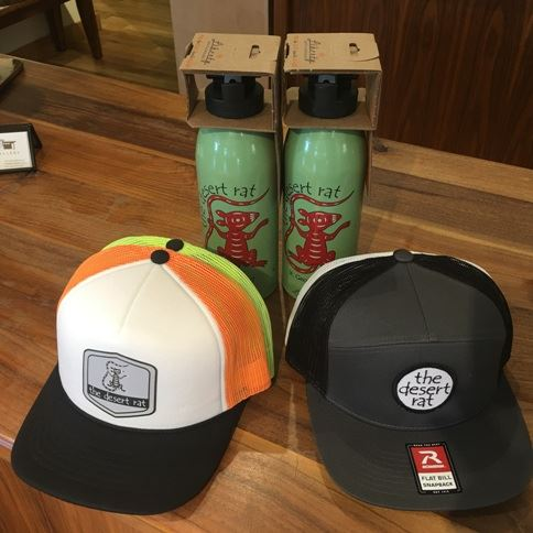 Desert Rat Hats and Waterbottles.  Value $108.  Silent auction.