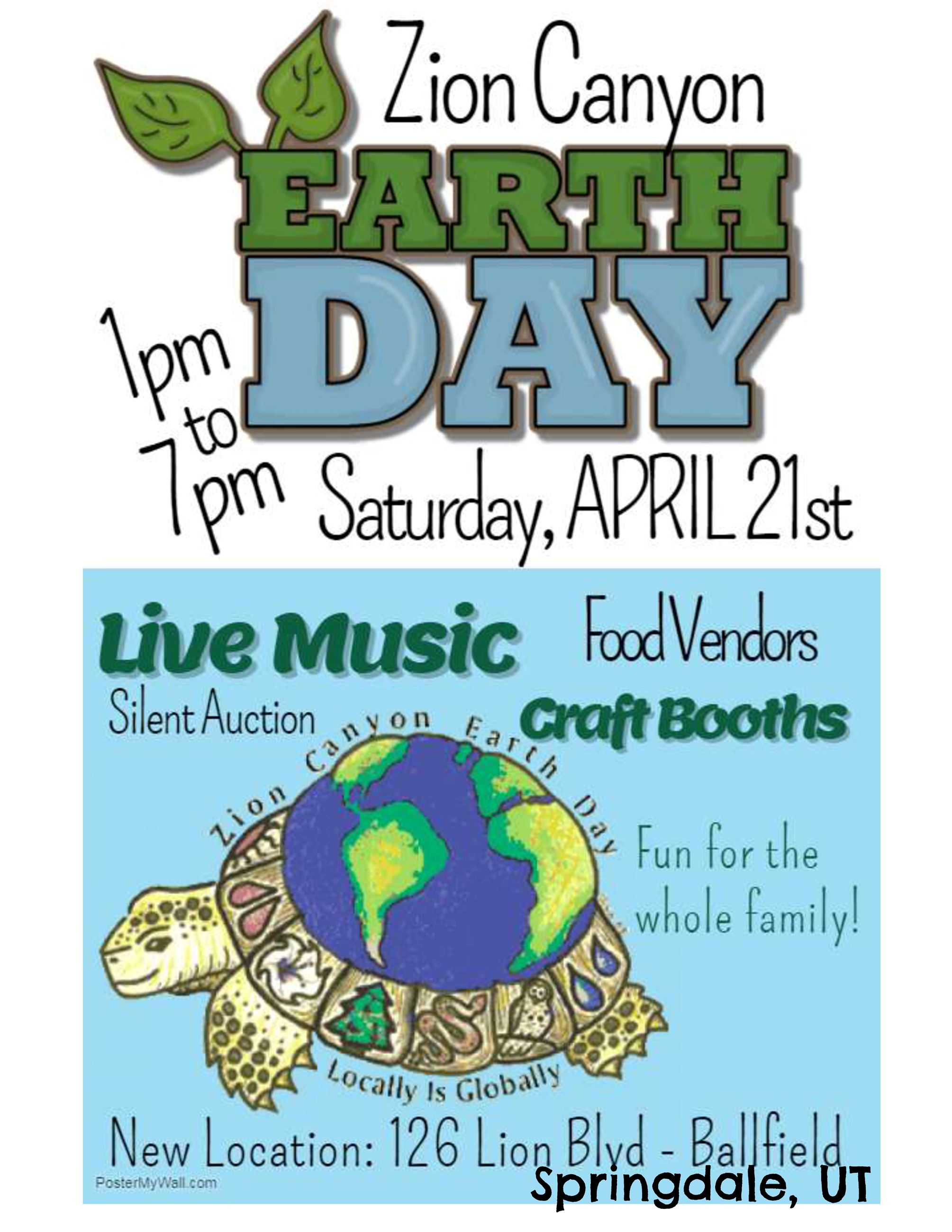 2018 Zion Canyon Earth Day Flyer